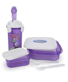Pratap Hungry Time Lunch Box Set Basketball Print - Purple