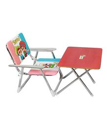 Sohum Folding Chair And Table Set - Red