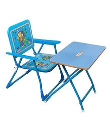 Sohum Folding Chair And Table Set - Blue