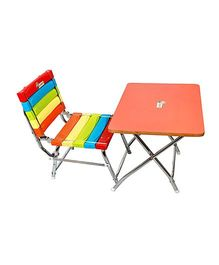 Sohum Comfortable Chair And Table Set - Multicolor