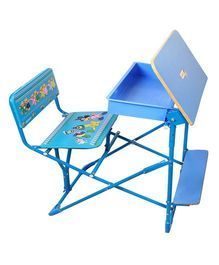 Sohum Folding Study Desk With Chair - Blue