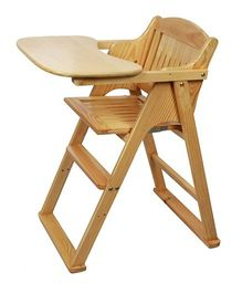 Sohum Folding High Chair Deco - Brown
