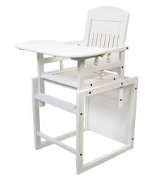 Sohum Convertible High Chair Deco - White
