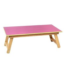 Sohum Folding Wooden Bed Table - Pink