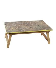 Sohum Folding Wooden Bed Table - Grey