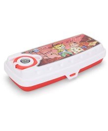Pratap Timonear Junior Compass Pencil Box - White And Red