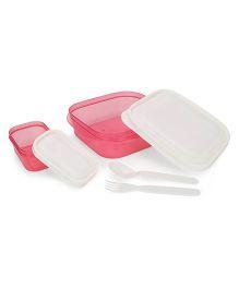 Pratap Hungry Time Lunch Box Set - Pink