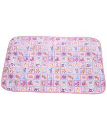 1st Step Baby Mat Bear Print - Pink