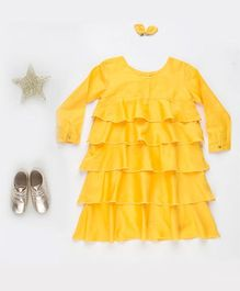 MilkTeeth Layered Dress - Yellow