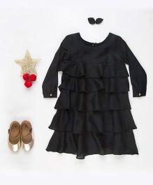 MilkTeeth Layered Dress - Black