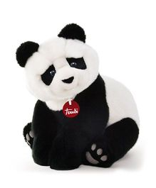 Trudi Panda Kevin Soft Toy Black And White - 34 cm