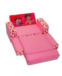 Cuddles Chhota Bheem Sofa Cum Bed - Pink