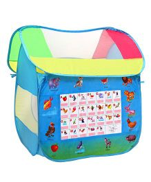 Playhood Alphabet Hut Pop Up Tent - Blue
