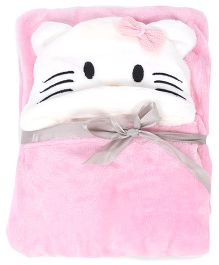 Adore Baby Hooded Fleece Blanket - Pink