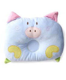 Adore Baby Neck & Head Support Pillow Piggy Design - Blue
