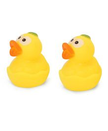Adore Duck Shape Bath Toys Pack Of 2 - Yellow