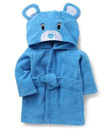 Wonderchild Bear Bath Robe - Blue
