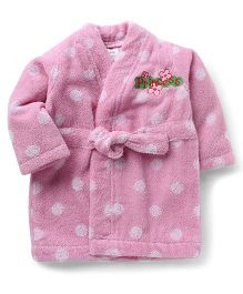 Wonderchild Bath Robe Polka Dot - Pink