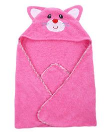 Wonderchild Baby Hooded Cat Towel - Pink
