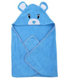 Wonderchild Baby Hooded Towel Bear - Blue