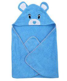 Wonderchild Baby Hooded Towel Bear - Blue