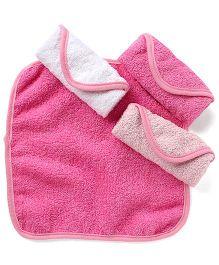 Wonderchild Baby Pack of 4 Wash Cloths - Pink