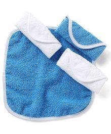 Wonderchild Baby Wash Cloth Pack of 4 - Blue