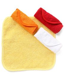 Wonderchild Baby Wash Cloth Pack of 4 - Yellow