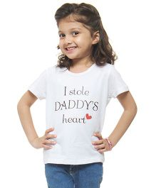 M'andy I Stole Daddy's Heart T-Shirt - White