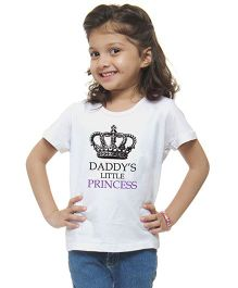 M'andy Daddy's Little Princess T-Shirt - White