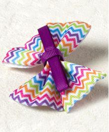 Milonee Chevron Print Bow Clip - Multicolour