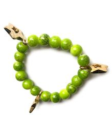 Milonee Gradient Pearl Bracelet With Charms - Green