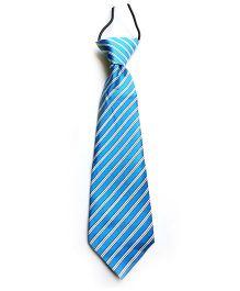 Milonee Cross Stripe Tie - Blue