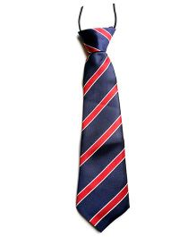 Milonee Cross Stripe Tie - Navy Blue & Red