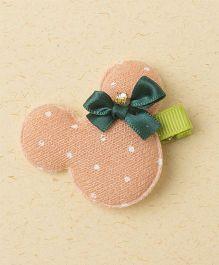 Milonee Diamond Studded Hair Clip - Peach