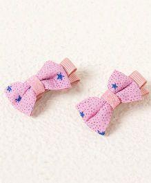 Milonee Star Print Bow Clip - Lavender