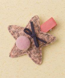 Milonee Star Clip With Pom Pom - Pink