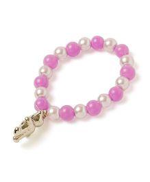 Milonee Pearl Bracelet With Teddy Charm - Lavender