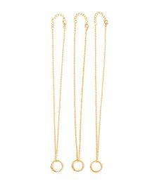 Milonee Best Friend Forever Ring Necklace Set - Golden