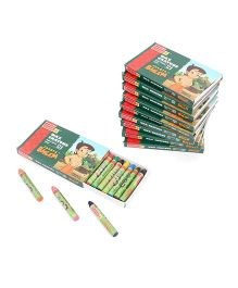 Camel Wax Crayons 10 Boxes 12 Shades - 5.5 cm