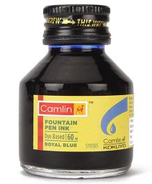 Camlin Fountain Pen Ink Royal Blue - 60 ml