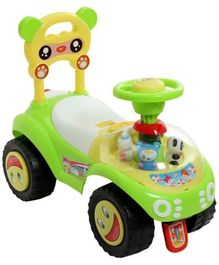 Fab N Funky Manual Push Ride On Green