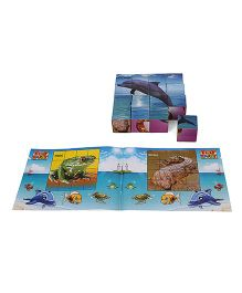 Toyenjoy Junior Blocks Fixo Dolphin Puzzle Of Aqua Blue - 16 Blocks