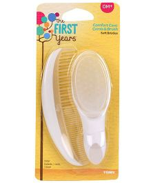 The First Years Infant Comb And Brush Set - White