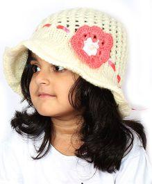 Magic Needles Handknitted Hat For Girls - Yellow