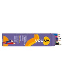 Youva Color Pencils 2 in 1 - 6 Pieces
