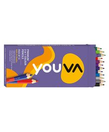 Youva Color Pencils 2 in 1 - 12 Pieces