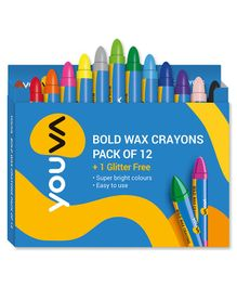 Youva Wax Crayons - Pack Of 12