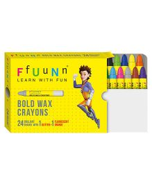 FfUuNn Wax Crayons Bold Multicolor - Pack of 24