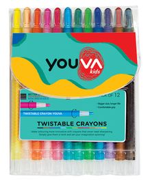 Youva Twistable Crayon - Pack of 12 Shades